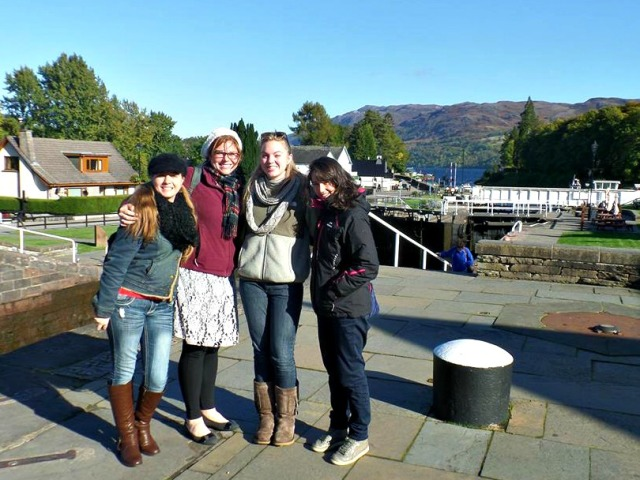 the girls at Loch Ness