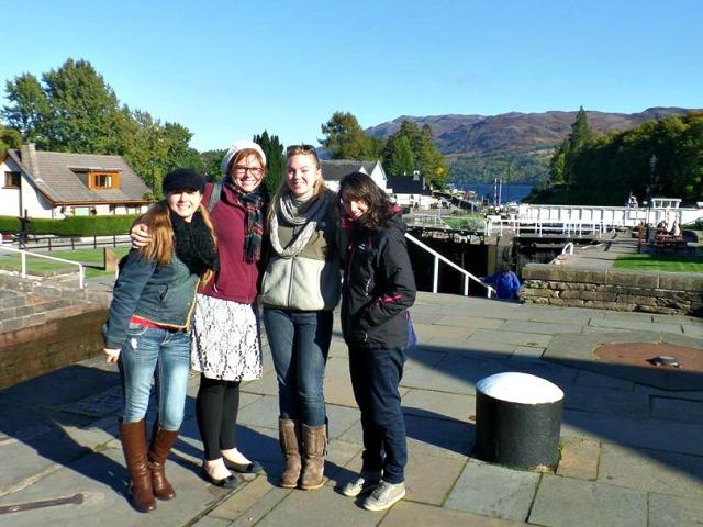 the girls at Loch Ness